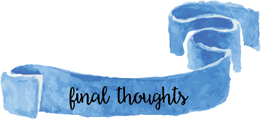 blue final thoughts