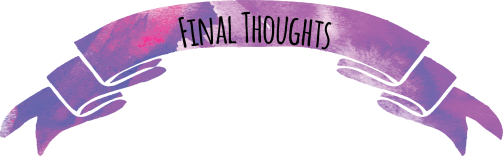 Final Thoughts Purple watercolor ribbon